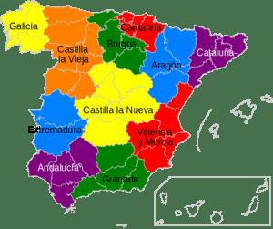 Mapa proyecto organización España 1847