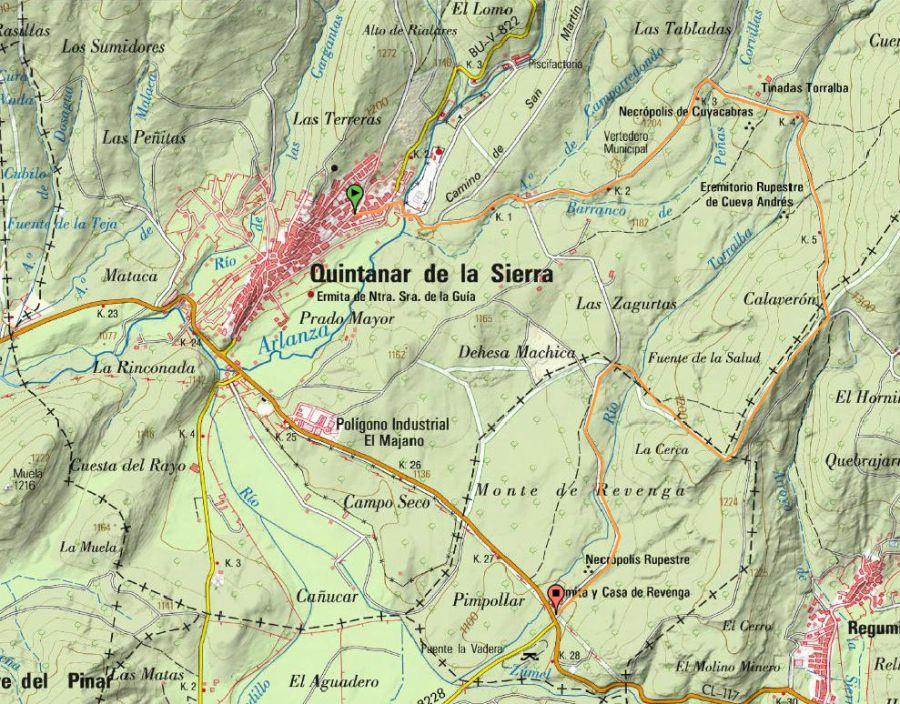 Mapa sendero PRC-BU-8