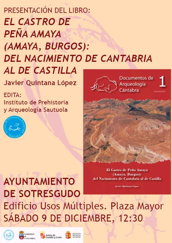 Presentación del libro El Castro de Peña Amaya (Amaya, Burgos): Del Nacimiento de Cantabria al de Castilla