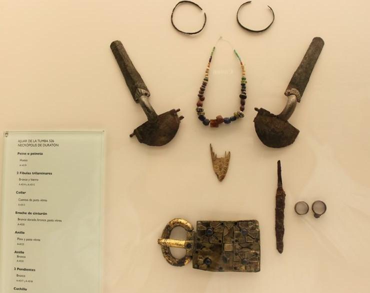 Ajuar de Duratón en el Museo de Segovia