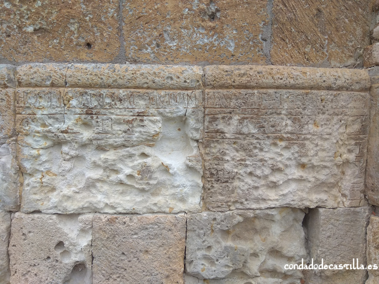 Inscripción ábside San Salvador de Sepúlveda (1096)