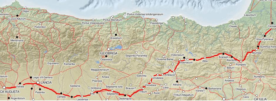 Via Hispania in Aquitania