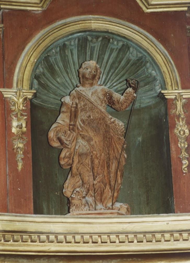 Imagen de San Formerio en la iglesia de cerezo de Río Tirón