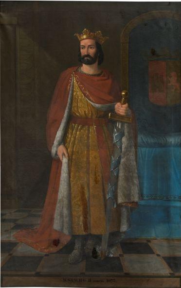 Sancho II. Óleo de Eusebio Valldeperas y Merich, 1851, Serie Cronológica de los Reyes de España, Museo del Prado