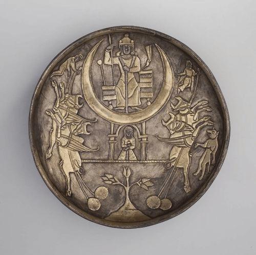 plato sasánida, 225-630 d. C., Museum of Fine Arts, Boston