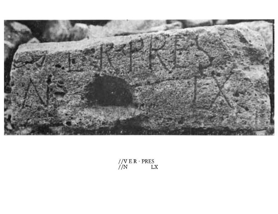 Estela romana hallada en San Felices de Oca.