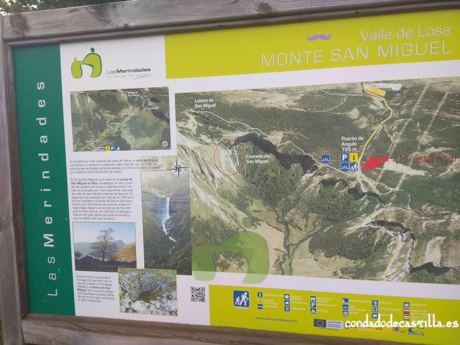 Panel informativo Monte San Miguel