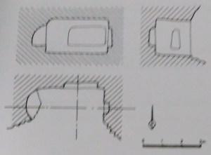 Plano de Cueva Rolloso según Judith Trueba Longo