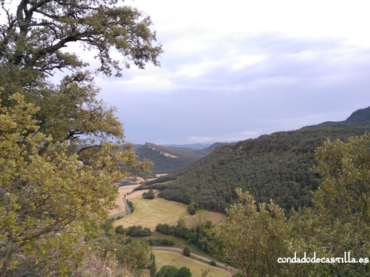 Vistas desde el castillo de Astúlez hacia el sur