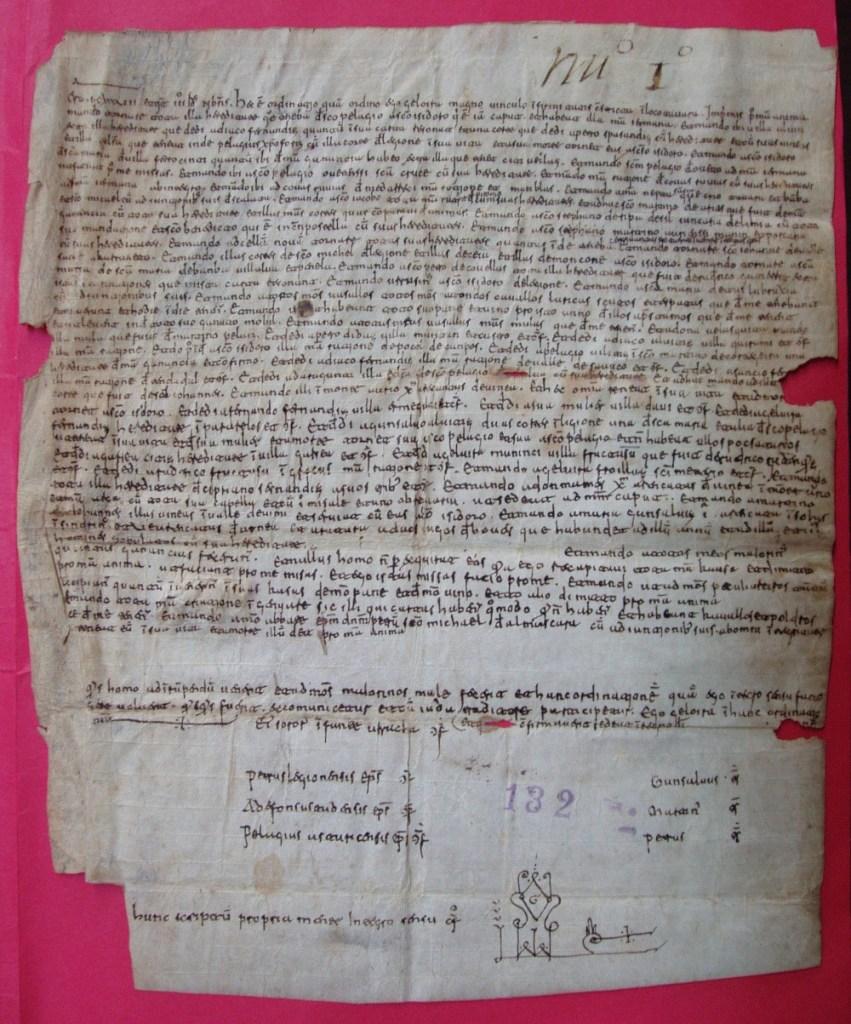 Testamento de Elvira Fernández. 1099