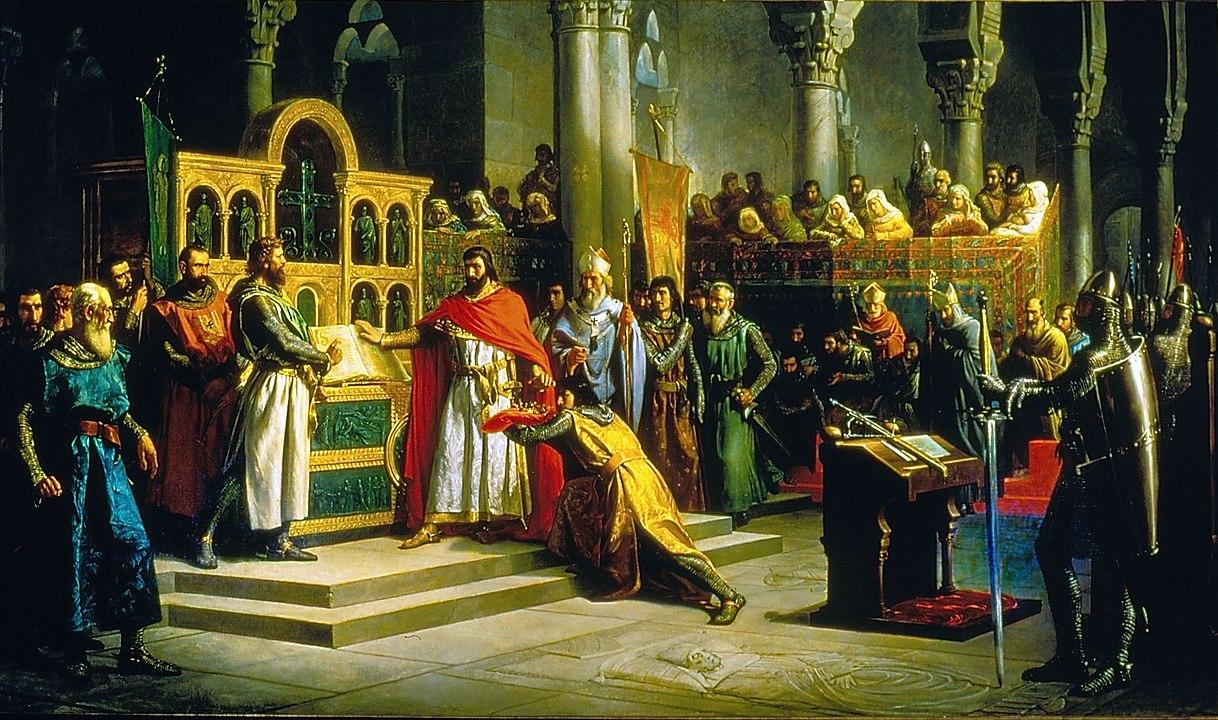 La Jura de Santa Gadea, de Marcos Hiráldez Acosta. 1864. (Palacio del Senado de España, Madrid).