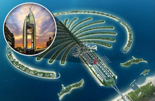 World map islands dubai path decorations pictures full path of several artificial island developments in dubai advertisement gumiabroncs Gallery
