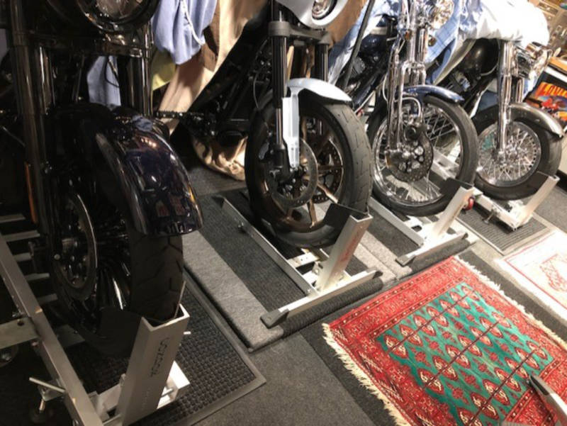 Four Condor Motorcycle Wheel Chocks