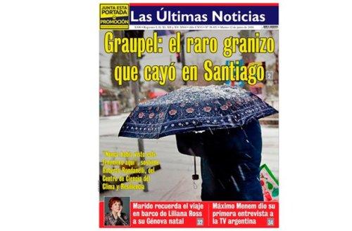 Graupel mir graut vor dir: Titelseite der LUN-Zeitung am Dienstag