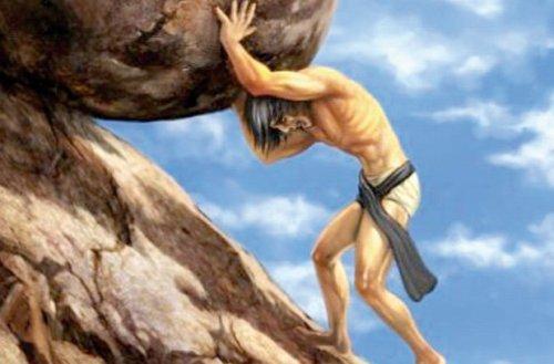 Steine rollen gegen das verfluchte Schicksal