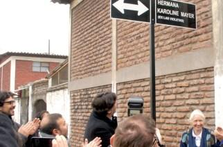 Straßenumbenennung in Recoleta: aus Las Violetas wird Hermana Karoline Mayer
