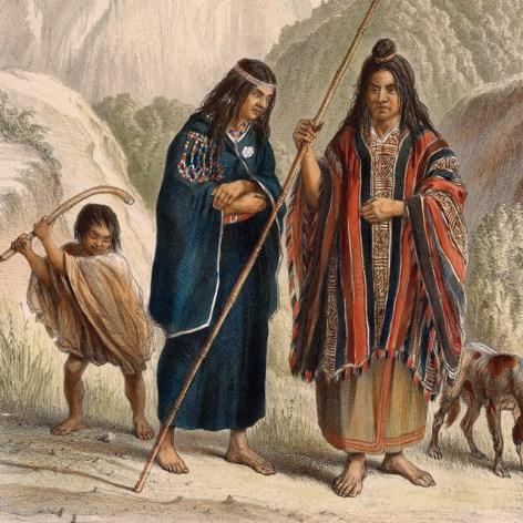 Darstellung von Claudio Gay, «Araucanos», 1854