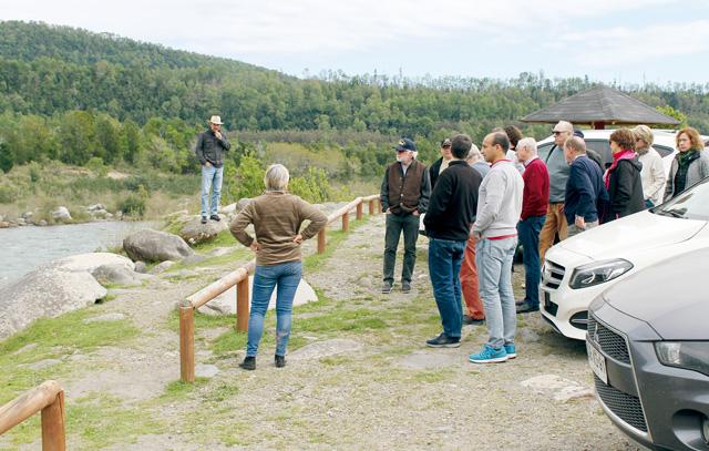 Ausflug zum Alto Biobío – Rast an der Mündung des Queuco