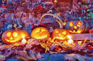 Halloween-Dekoration in Nordrhein-Westfalen: Der Rummel um den Spuk samt Kindersüßigkeiten ist auch in Deutschland beliebt.