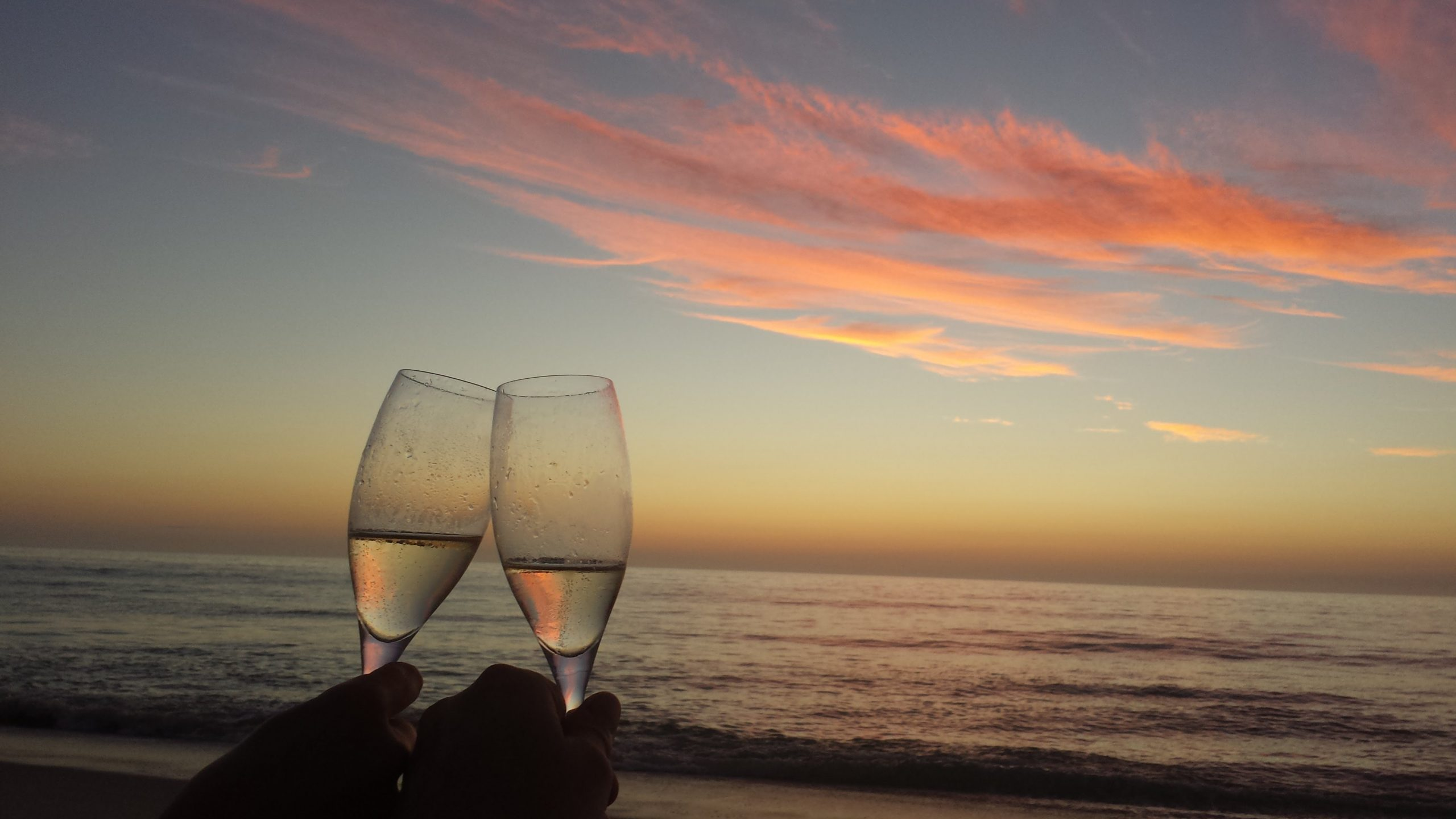 Happy hour sunset cheers
