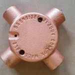 Copper conduit 4 Way