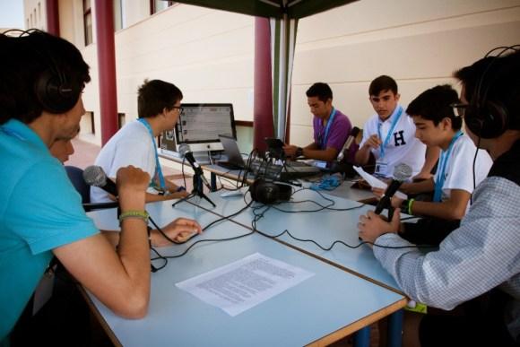 El set de la Radio en la jornada Vive tu Colegio