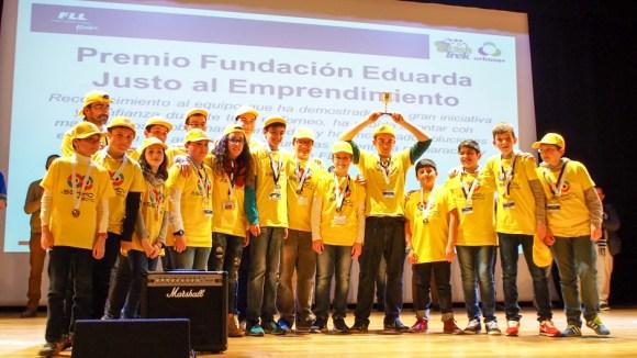 El equipo de robótica aSEKmov, de SEK Alborán, consiguió el segundo puesto en la competición de robots y el premio Fundación Eduarda Justo al Emprendimiento