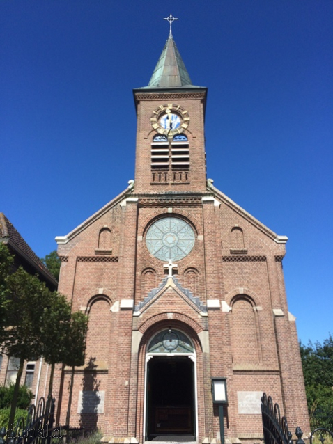 Gereja disalah satu desa di Texel