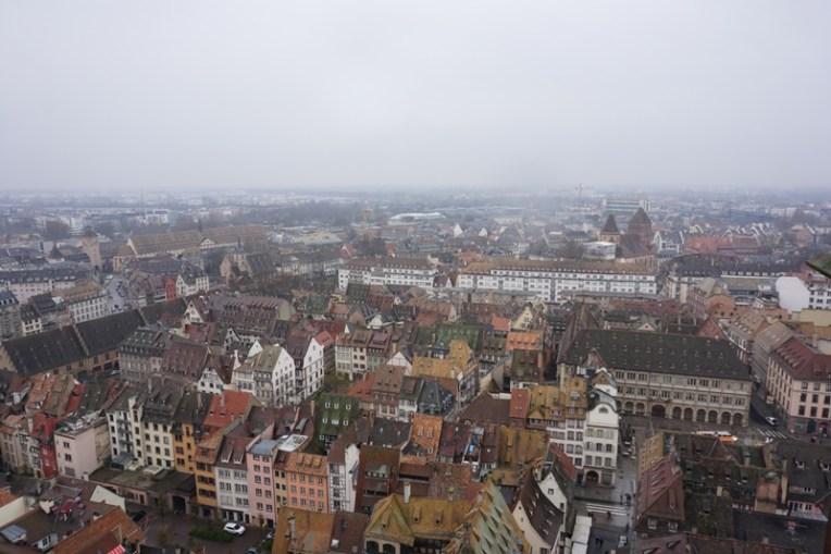 Strasbourg dari atas Katedral