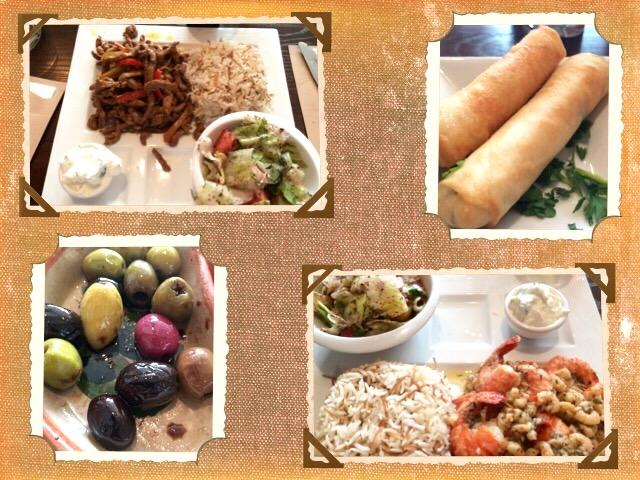 Makan di restoran Lebanon. Lumayanlah rasanya meskipun tidak Wow