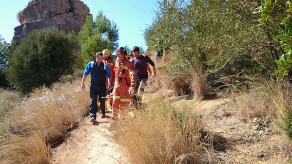 Rescate de un escalador en Montesa