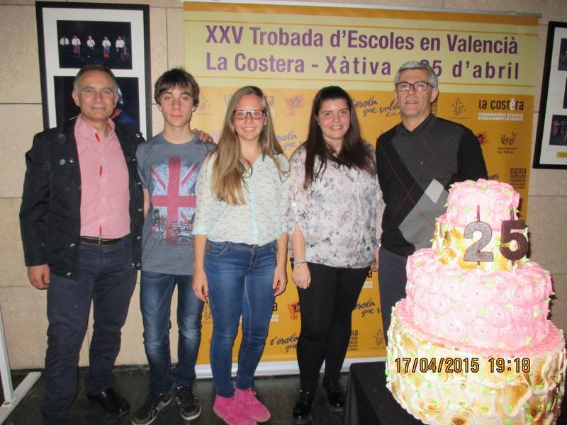 Premiats de l'IES Sivera Font de Canals al premis Sambori de literatura en valencià.