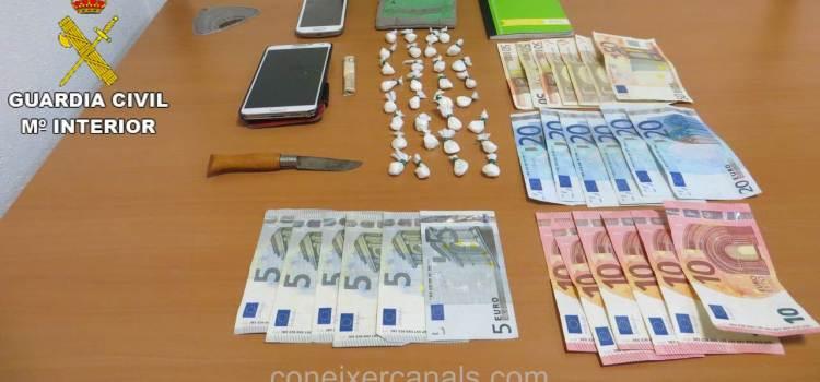 La Guardia Civil detiene a una persona implicada en un delito de trafico de drogas en Llosa de Ranes