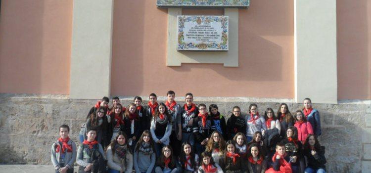 Els alumnes d'ESO i FPB peregrinen a València per conèixer l'Any Eucarístic del Sant Calze i del Jubileu Extraordinari de la Misericòrdia