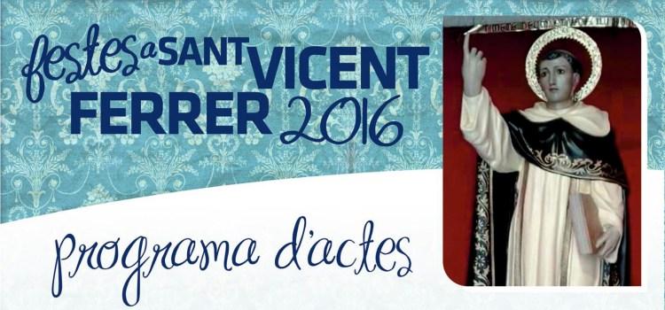 Programa de Festes de Sant Vicent 2016