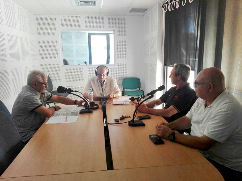 El Mig Any Fester en una entrevista als festers de Sant Antoni de 2018