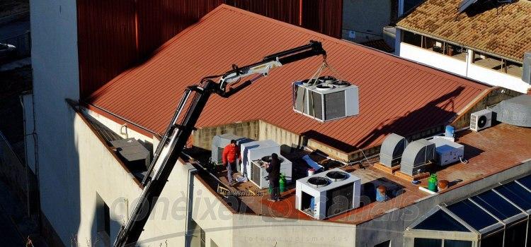 Es renova l'aire condicionat del Centre Cultural Papa Calixte III