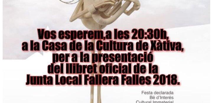 Ja podeu veure el llibret de les Falles de Xàtiva 2018!