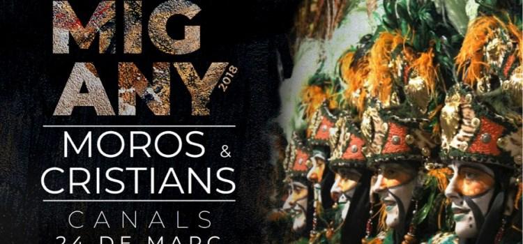 El 24 de Març es celebra a Canals el Mig Any de Moros i Cristians
