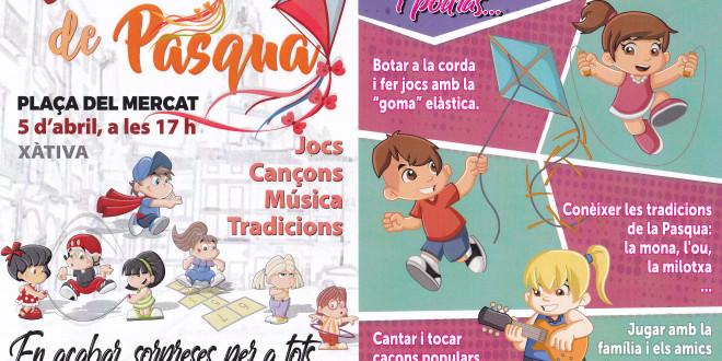 """A la plaça del Mercat, dijous 5 d'abril: tallers """"Un dia de Pasqua"""""""