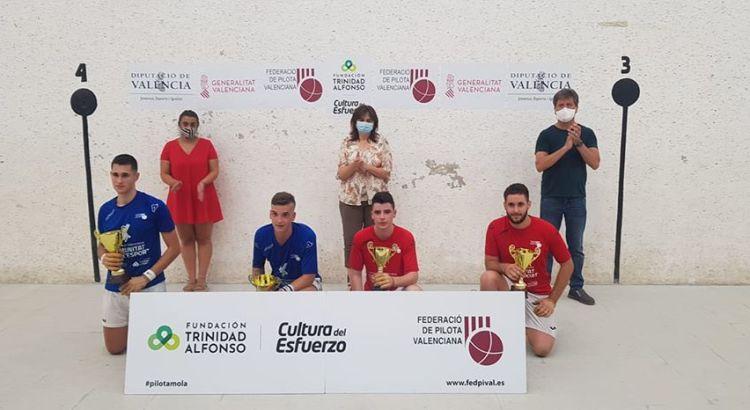 El jugador canalí de pilota valenciana, José Ramón Yàniz Vidal va disputar la final del III Circuit Sub18 de raspall