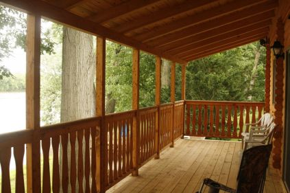 Porch to river