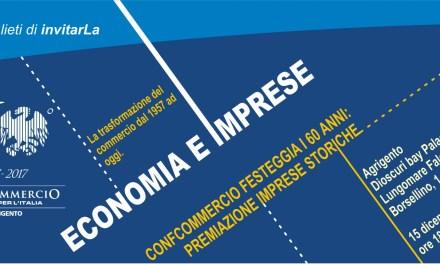 I 60 anni di Confcommercio Agrigento, incontro dibattito con le imprese di oggi e di ieri