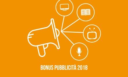 Bonus pubblicità 2018: credito di imposta fino al 90% su investimenti pubblicitari
