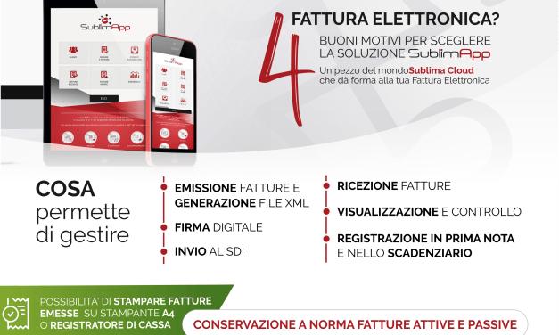 Fatturazione elettronica: convenzione Confcommercio/SublimApp