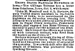 Murder of the Marshals OCt 2 1864 letter from Oskaloosa Iowa in Chicago Tribune