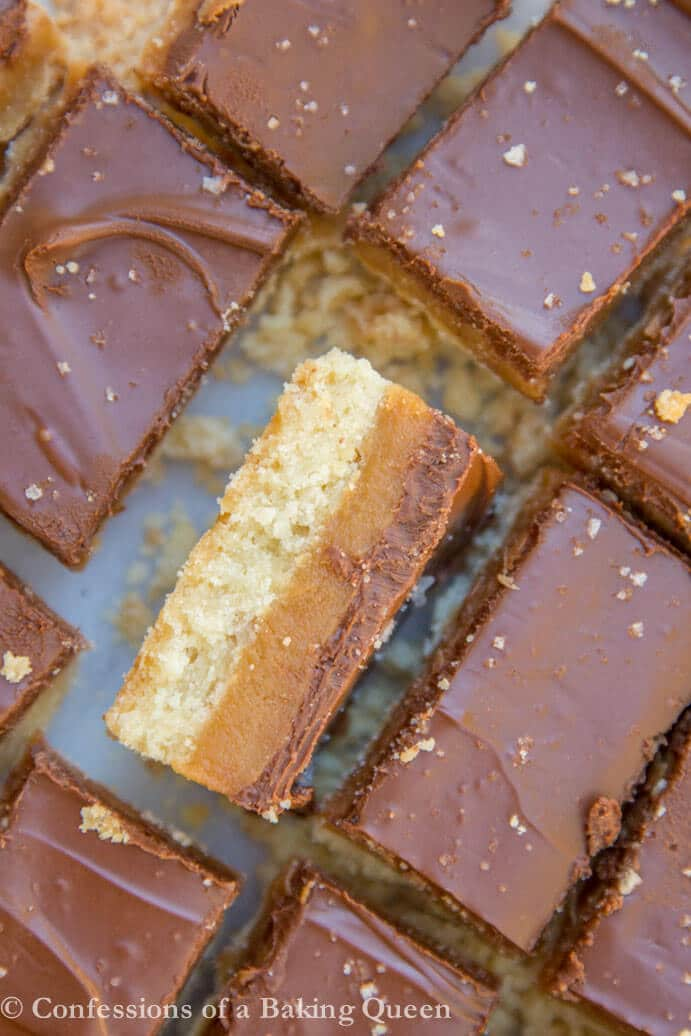 Salted Millionaire's Shortbread www.confessionsofabakingqueen.com