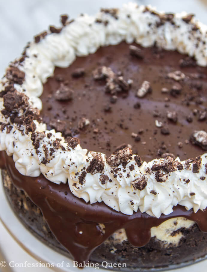 oreo cheesecake up close