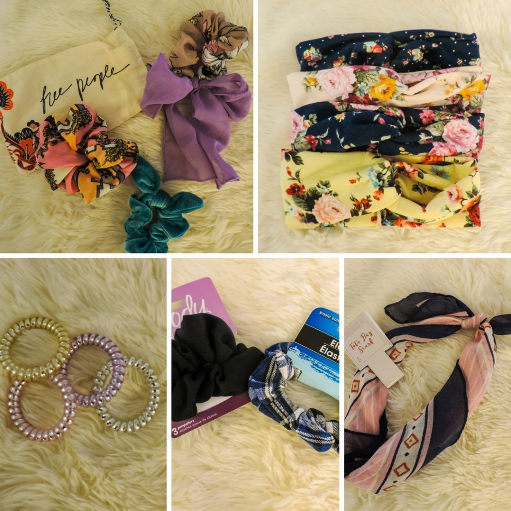 Hair accessories for spring scrunchies and turban headbands