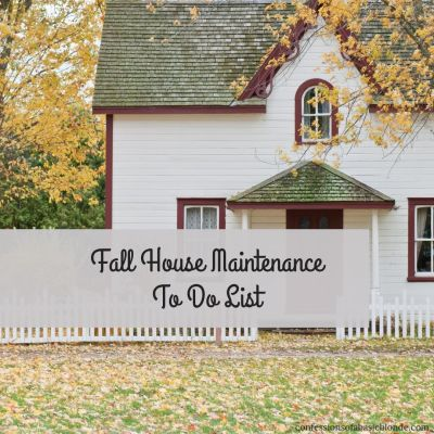 Fall House Maintenance Checklist